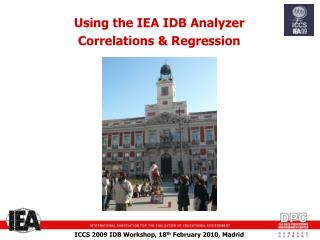 Using the IEA IDB Analyzer  Correlations  & Regression