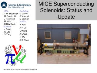 MICE Superconducting Solenoids: Status and Update