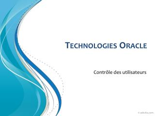 Technologies Oracle