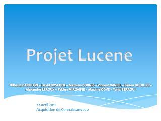 Projet  Lucene