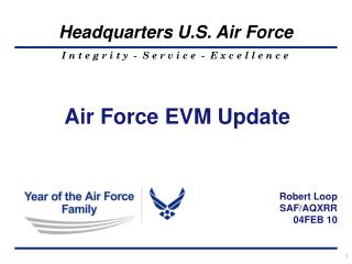 Air Force EVM Update
