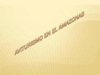 AVITURISMO EN EL AMAZONAS
