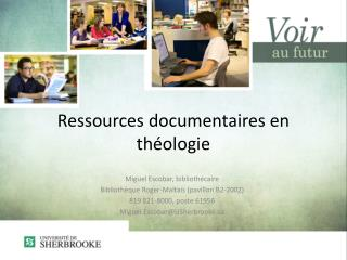 Ressources  documentaires  en  th�ologie
