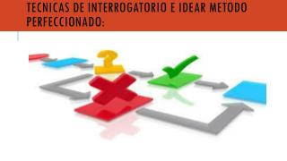 TECNICAS DE INTERROGATORIO E IDEAR  METODO  PERFECCIONADO: