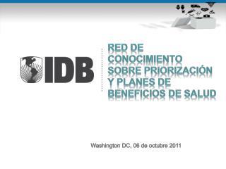 RED DE CONOCIMIENTO SOBRE  Priorización  y PLANES DE BENEFICIOS DE SALUD