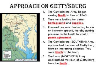 Approach on Gettysburg
