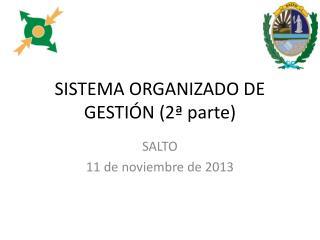 SISTEMA ORGANIZADO DE  GESTI�N (2� parte)