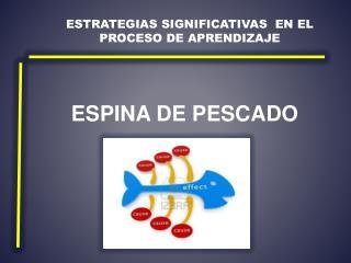 Estrategias significativas  en el proceso de aprendizaje