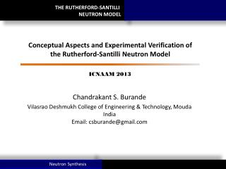 THE RUTHERFORD-SANTILLI  NEUTRON MODEL