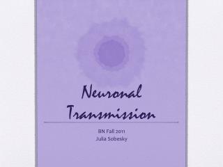 Neuronal Transmission