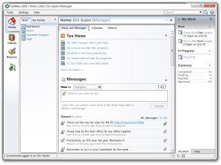 TaxMate 2009 | Home | Start: Eric Aspen (Manager)
