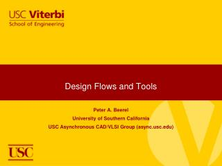 Design Flows and Tools