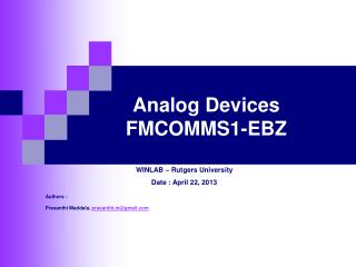 Analog Devices      FMCOMMS1-EBZ