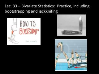 Lec .  33  – Bivariate Statistics:  Practice, including bootstrapping and jackknifing