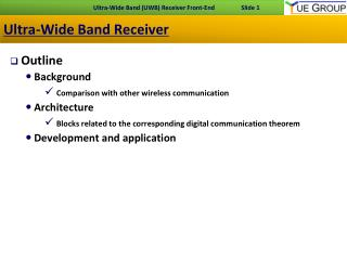 Ultra-Wide Band Receiver