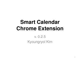 Smart Calendar  Chrome Extension