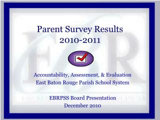 Parent  Survey Results 2010-2011