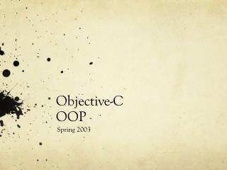Objective-C OOP