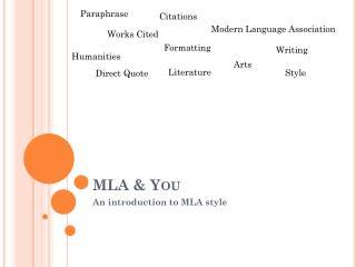 MLA & You