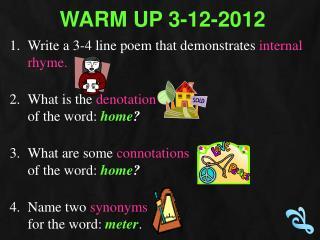 Warm Up  3-12-2012