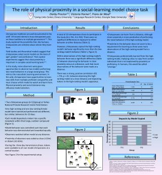The  role of  physical proximity in a social-learning model choice task