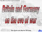 Britain and Germany on the eve of war