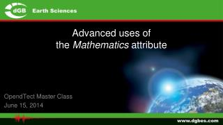 Advanced uses of  the  Mathematics  attribute