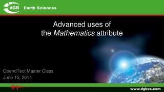 Advanced uses of  the  Mathematics  attribute
