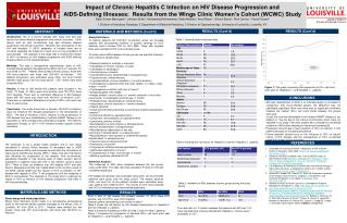 Impact of Chronic Hepatitis C Infection on HIV Disease Progression and