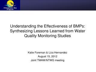 Katie Foreman & Liza Hernandez August 15, 2012 Joint TMAW/NTWG meeting