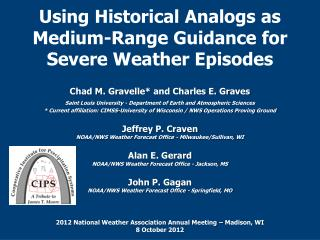 Using Historical Analogs as Medium-Range Guidance for Severe Weather Episodes