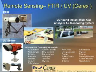 Remote Sensing� FTIR / UV (Cerex )
