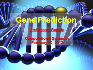 Gene  Prediction