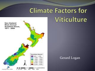 Climate Factors for Viticulture