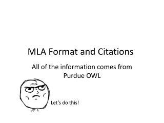 MLA Format and Citations