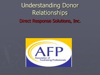 Understanding Donor Relationships