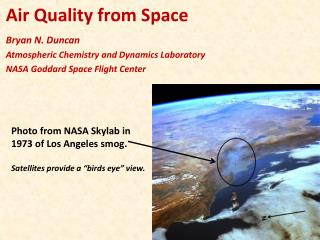 Air Quality from Space