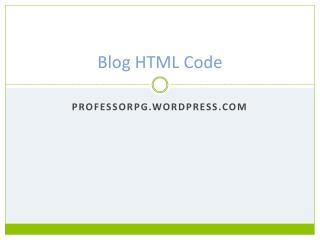 Blog HTML Code