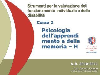 Strumenti per la valutazione del funzionamento individuale e della disabilità
