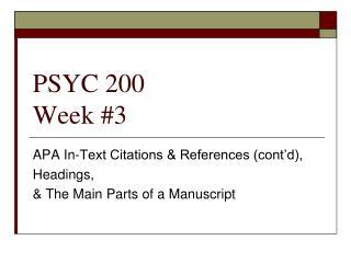 PSYC 200 Week #3