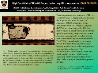 Princeton Univ MRSEC 0819860 IRG D Microresonators