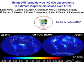 Using OMI formaldehyde (HCHO) observations  to estimate isoprene emissions over Africa