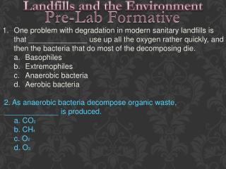 Landfills and the Environment