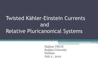 Twisted  Kähler -Einstein  C urrents and Relative  Pluricanonical  Systems