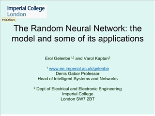 The Random Neural Network: the model and some of its applications