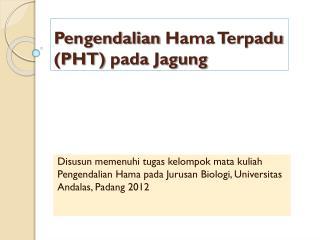 Pengendalian  Hama  Terpadu  (PHT) pada Jagung