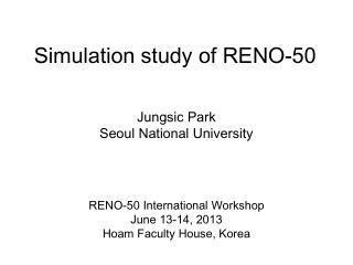 Simulation study of RENO-50