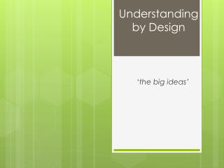 'the big ideas'