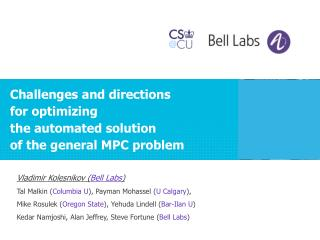 Challenges and directions  for  optimizing  the automated  solution  of  the general MPC  problem