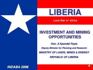 INVESTMENT AND MINING OPPORTUNITIES